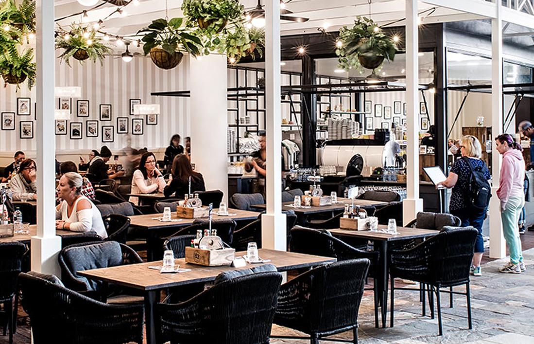interior of a contemporary restaurant