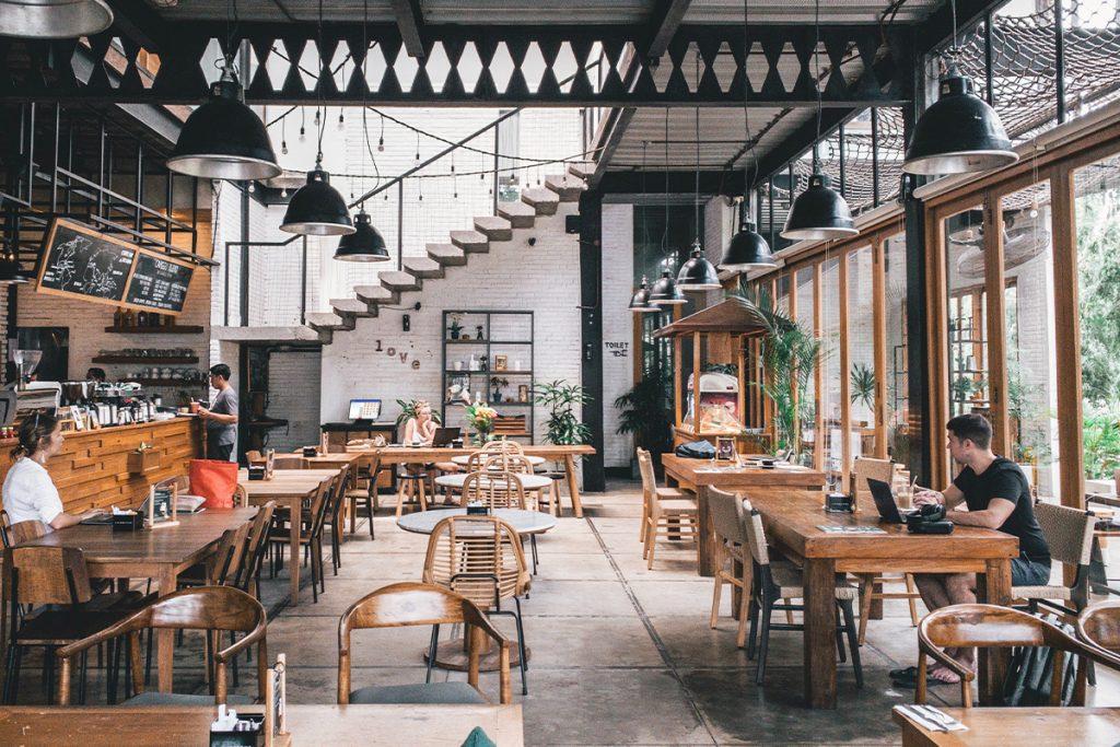 modern design interior of a restaurant cafe